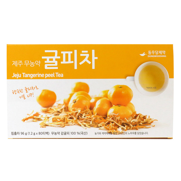 Omni Herb Jeju (pesticide-free) Tangerine (Orange/Citrus) peel 80 Tea Bags